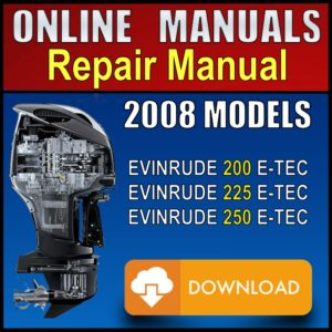 2008 Evinrude ETEC 200hp 225hp 250hp Service Manual Pdf
