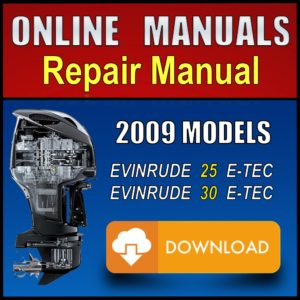 2009 Evinrude ETEC 25hp 30hp Service Manual Download Pdf