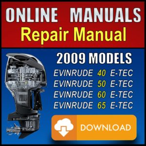 2009 Evinrude ETEC 40hp 50hp 60hp 65hp Service Manual Download Pdf