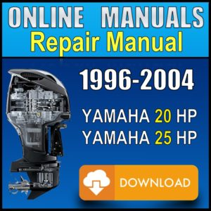Yamaha 20 25 hp Service Manual 1996 1997 1998 1999 2000 2001 2002 2003 2004