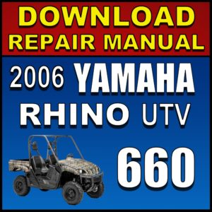 2006 Yamaha Rhino 660 Service Manual Pdf Download