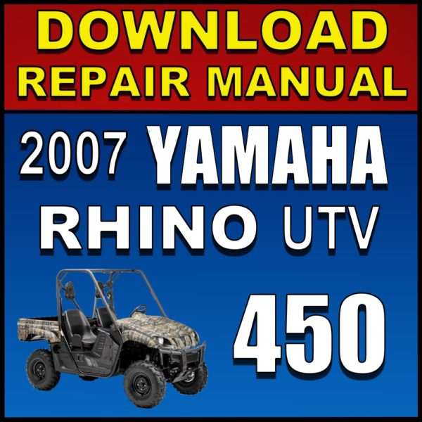 2007 Yamaha Rhino 450 Repair Manual Pdf Download Service Manual