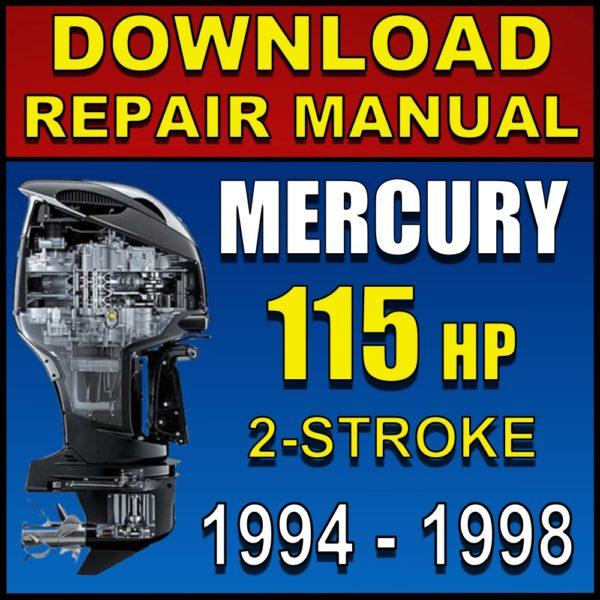 Mercury 115hp Repair Manual 115 hp 1994 1995 1996 1997 1998 Pdf Download