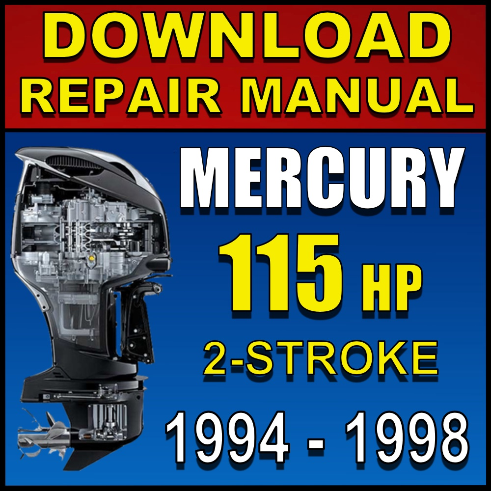 Download 1994-1998 Mercury Outboard 115hp Repair Manual | 1998 Mercury Outboard Wiring Diagram Free Picture |  | Online Manuals