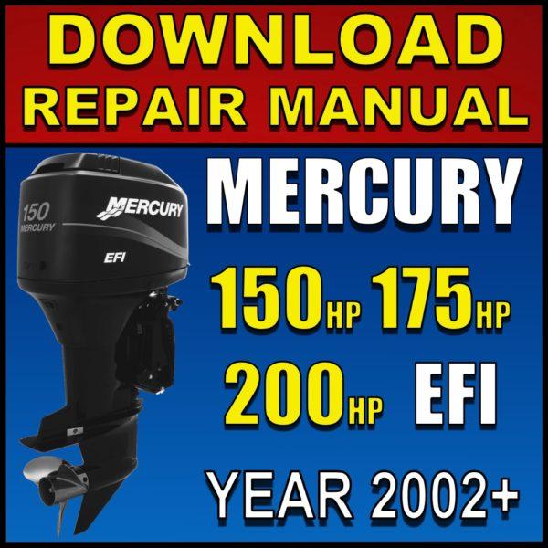 Mercury 150hp 175hp 200hp EFI V6 Service Manual Pdf 2002 2003 2004