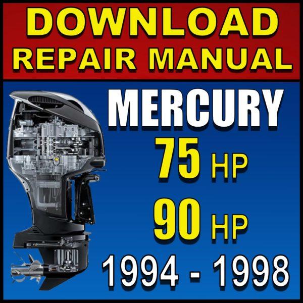 Mercury 75 90 hp Repair Manual Pdf Download 1994 1995 1995 1997 1998 Service Manual