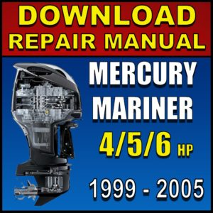 Mercury-Mariner 4 5 6 hp 4-stroke service manual 1999 2000 2001 2002 2003 2004 2005