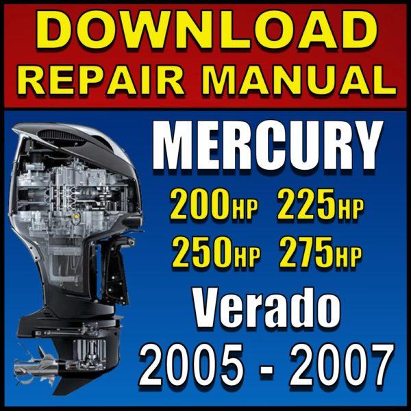 Mercury Verado 200hp 225hp 250hp 275hp Service Manual Pdf 2005 2006 2007