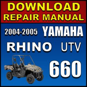Yamaha Rhino 660 Service Manual Pdf Download 2004 2005