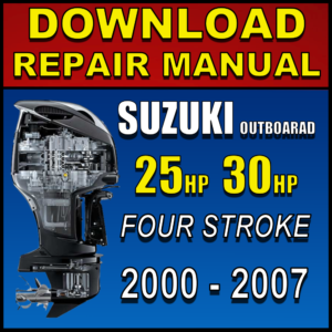 Suzuki 25hp 30hp Service Manual DF25 DF30